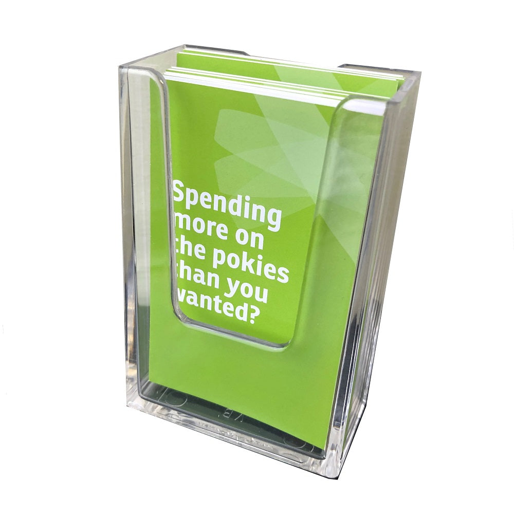 Wallet leaflet holder - perspex (for wall mounting)
