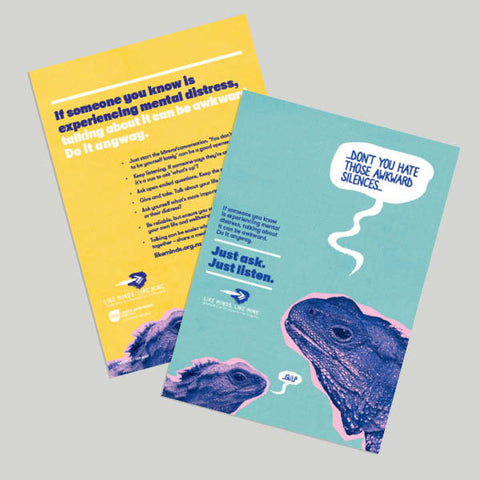 "Just Ask. Just listen. Set of 4x A5 Flyers  (""If someone you know..."")"