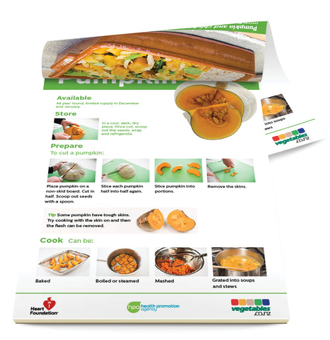Easy meals with vegetables: Pumpkin (pads) A5 Size