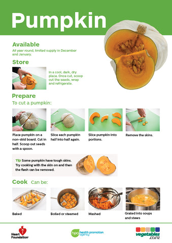 Vegetables made easy: Pumpkin (pads)