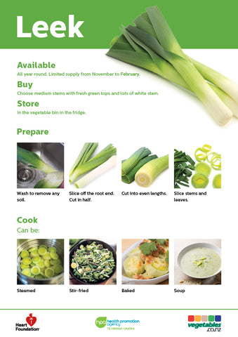 Easy meals with vegetables: Leek (pads)