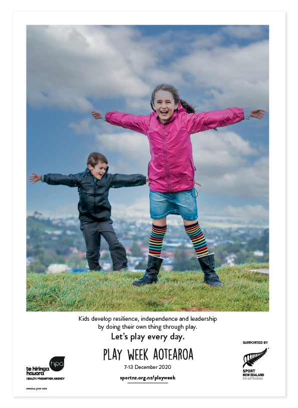 Play Week Aotearoa Poster - Age group 5-11 - Wind play