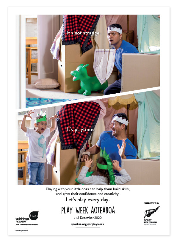 Play Week Aotearoa Poster - Age group Under 5s - Fort play