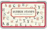 Alphabet Rubber Stamp Set