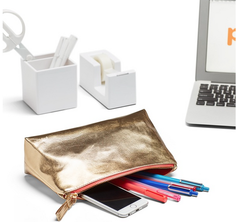 Gold Medium Accessory Pouch