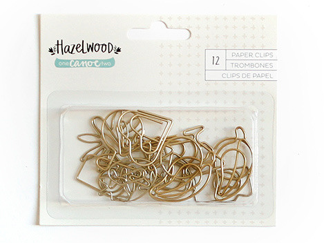 GOLD SHAPED PAPER CLIPS