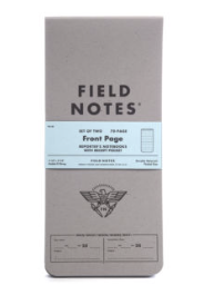 Front Page - Reporter's Notebook from Field Notes