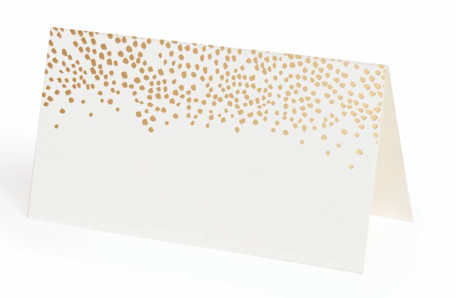 CHAMPAGNE PACKAGE OF 8 FOLDING PLACE CARDS