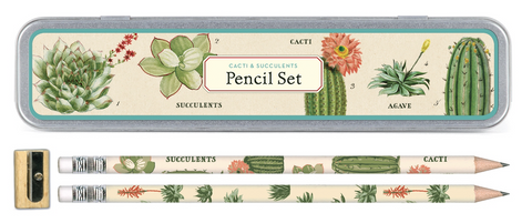 Succlents Pencil Set