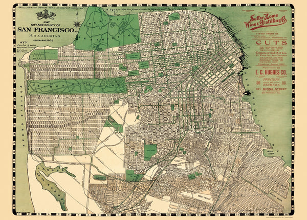 Map of San Francisco Poster & Wrap
