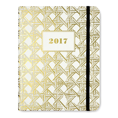 kate spade new york 17-month medium agenda - caning