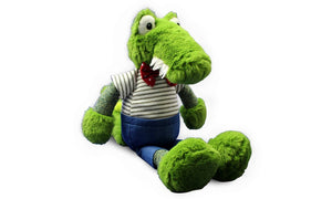 Bowtie Stripe Crocodile - Knit N Plush Toy