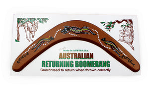 Carded Australian Made Returning Boomerang - Goanna 12""