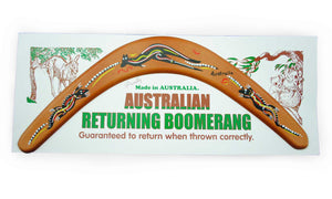 Carded Australian Made Returning Boomerang - Kangaroo 18""