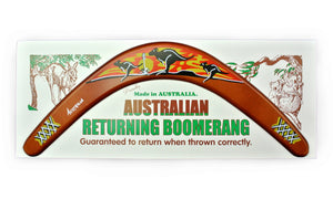 Carded Australian Made Returning Boomerang - Kangaroo Sunset 18""