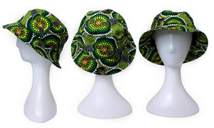 Bunabiri Indigenous Bucket Hats - Colin Jones - Colours Rainforest