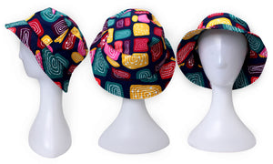 Bunabiri Indigenous Bucket Hat - Jedess Hudson - Gogo Wundu (Water Forest Country)