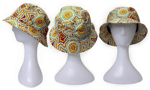 Bunabiri Indigenous Bucket Hat - Stephen Hogarth  - Pathways