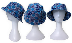 Bunabiri Indigenous Bucket Hat - Stephen Hogarth  - Rivers Around
