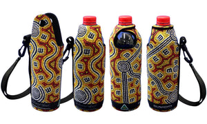 Bottle Coolers (600ml) - Dreaming Collection Brush-Tailed Possum Dreaming - By Judith Nangarrayi Martin