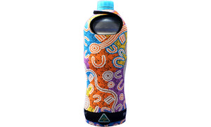 Bottle Coolers (600ml) - Dreaming Collection Water Dreaming - By Evelyn Nangala Robertson