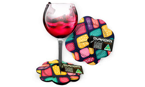 Wine Glass Coasters - J.Hudson Gogo Wundu (Water Forest Country)