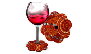 Wine Glass Coasters - Luther Cora Dry