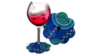 Wine Glass Coasters - Luther Cora Wet