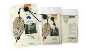 Lady Bird/Leaf Bookmark
