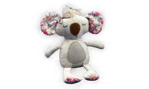 Cute Koala - Floral Print - Knit N Plush Toy