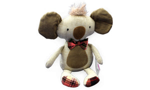 Cute Koala - Floral Print with Bow Tie - Knit N Plush Toy