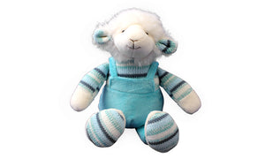 Cute Blue Lamb - Knit N Plush Toy