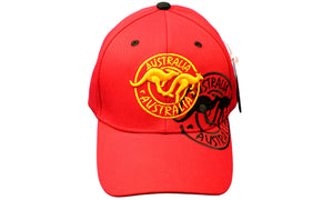 RooWho Australiana Caps - Kangaroos Red