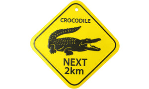 Crocodile Road Sign