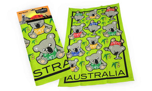RooWho Tea Towels - Playful Koalas