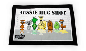 RooWho Tea Towels - Aussie Mug Shot