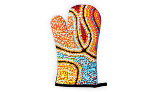 Oven Mitt and Pot Holder Set - Snake Dreaming