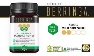 BERRINGA MANUKA HONEY - MILD STRENGTH 120 MGO 500G