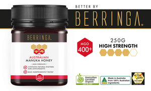 BERRINGA MANUKA HONEY - HIGH STRENGTH 400 MGO 250G