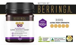 BERRINGA MANUKA HONEY - HIGH STRENGTH 900 MGO 250G