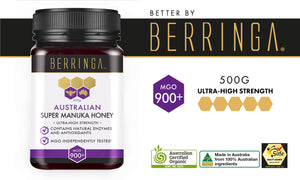 BERRINGA MANUKA HONEY - HIGH STRENGTH 900 MGO 500G