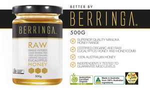 BERRINGA MANUKA HONEY - RAW EUCALYPTUS HONEY 500G
