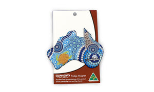 Bunabiri Australian Map - (Colin Jones Blue Dot Turtle)