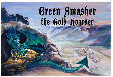 Green Smasher the Gold Hoarder Poster