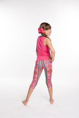 Aztec Southwestern print Pants Girls spandex capri legging - leggings for girls
