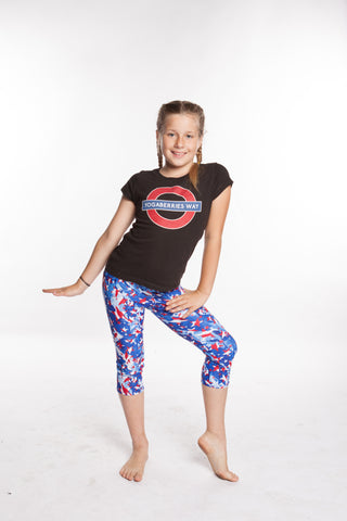 YogaBerries Kids Pants Star Spangled Capri Yogga Leggings girls dance - Leggings for Girls