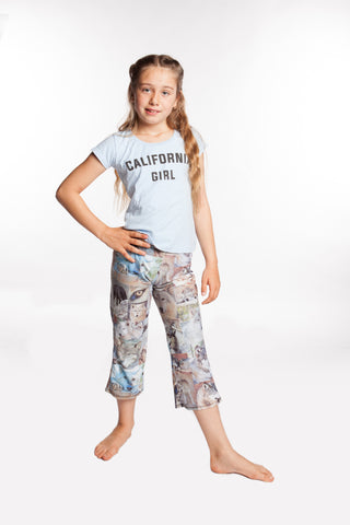Yoga Pants for Girls Wolf Face Collage - Leggings for girls