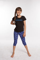 Purple Kokopelli Pants Girls spandex capri legging for girls.