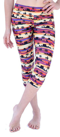 Pants Girls Desert Sun spandex capri legging for girls.
