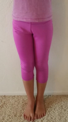 Girls spandex capri legging in Gypsy color